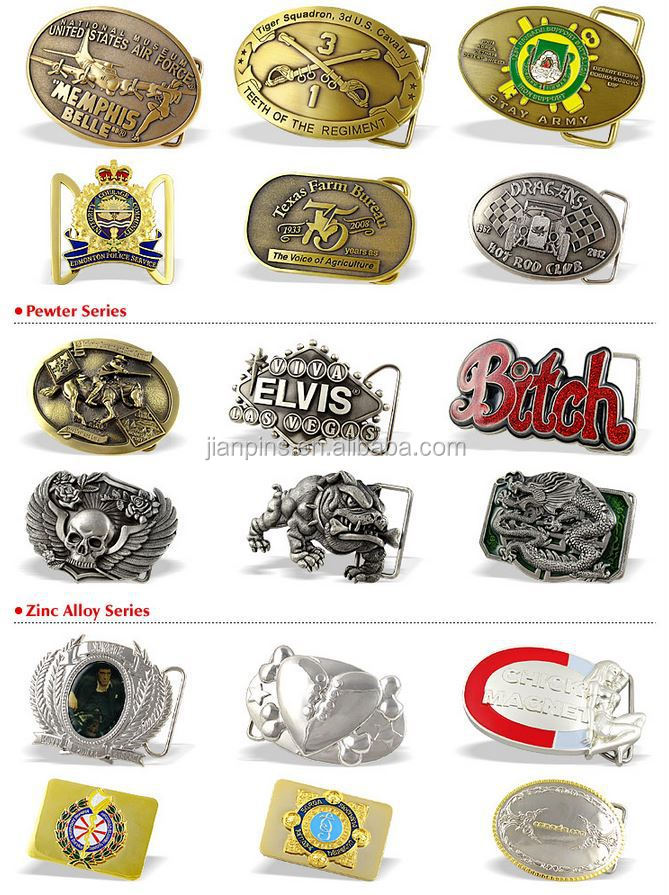 JIAN Wholesale Reversible Belt Buckle/ Types of Belt Buckle