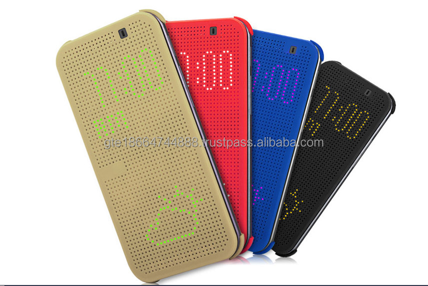 Original style Multi-Function Sleep Wake New Dot View Smart Case for HTC One M8
