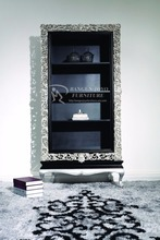 Black and silver Luxury bookcase