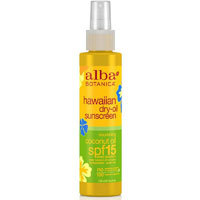 Hawaiian Dry Tanning Oil, Coconut with SPF15 4.5 oz by Alba Botanica