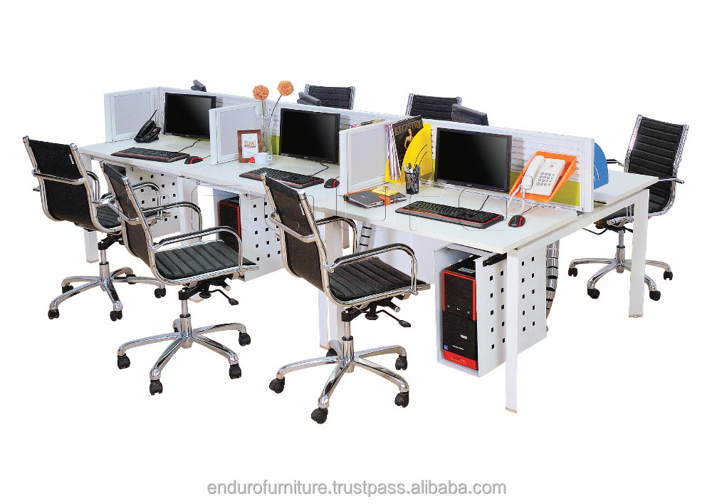 Modular Staff Desk with High Technology Support