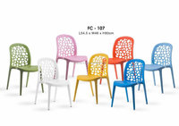Strong And Durable Leisure Cafe Dining Modern Plastic Chair Without Arm made in malaysia