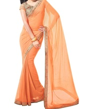 NW Plain georget Party Wear Saree Sari Belly Dance Fabric Drape Curtain