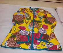 Women Cotton Quilted Jacket Hand Block Print Winter Warm Coat Blazer Reversible