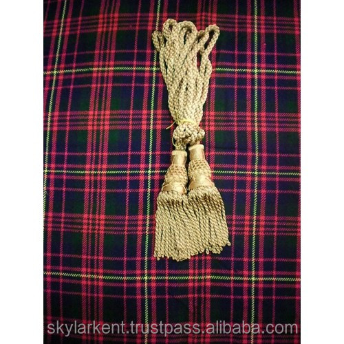Scottish great highland bagpipe silk drone cord gold | Gold drone cord for bagpipe | scottish golden drone cord for bagpipe