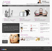 Custom Website eCommerce Development Service for Beauty Products with Web Hosting