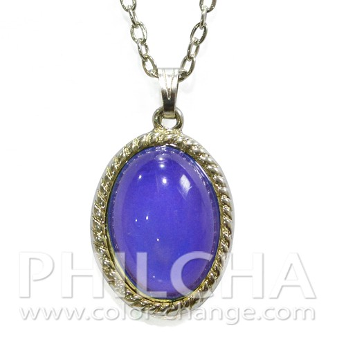 Vintage style color changing oval mood stone pendant for Fashion jewelry that won t change color