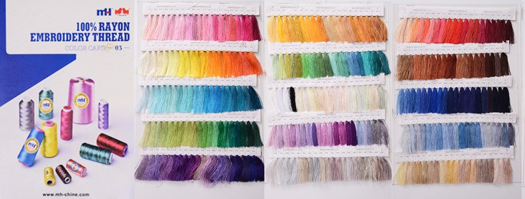 Super quality 120/2 100% Viscose Rayon embroidery thread 120D 2