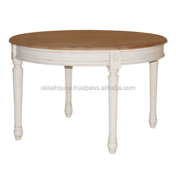 Shabby Chic Furniture Indonesia - Round Dining Table shabby finish