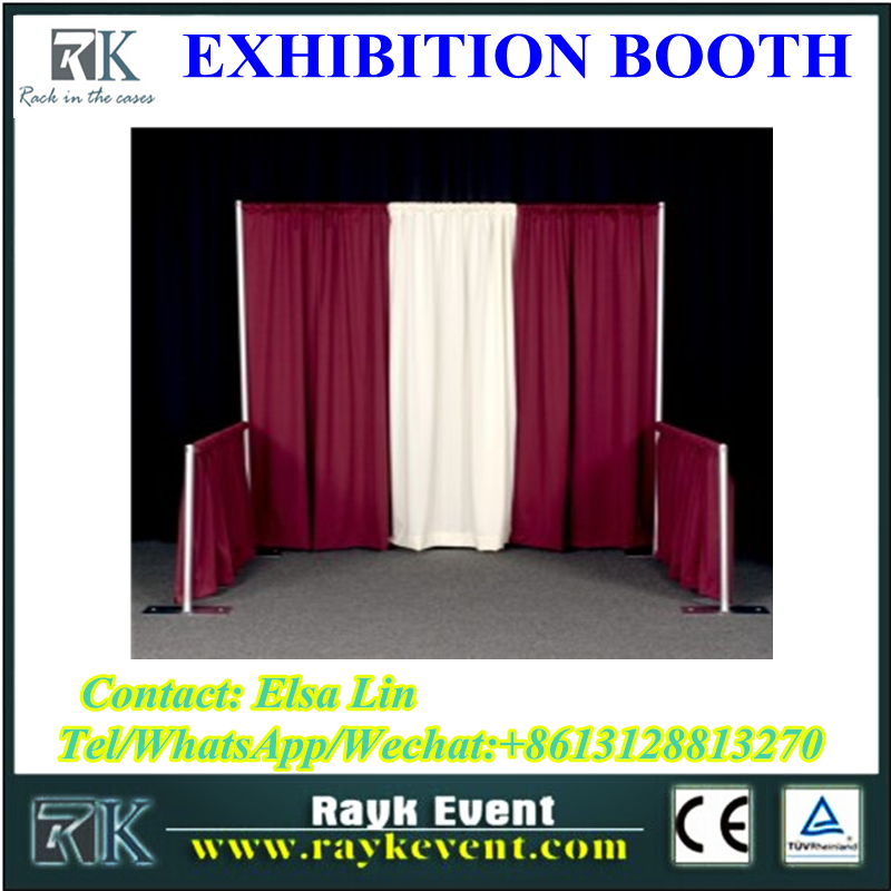 Indoor decoration used trade show booth pipe and drape stands custom trade show booth made in China