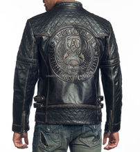 wholesale men stylish leather quilted back/pakistan leather jackets for men