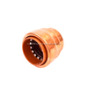 Copper Head - Copper Push Connect Fitting Patented Worldwide Lead Free - End Cap