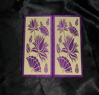 royal purple marriage card with laser cut design cheaper price, wedding invitation card