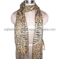 wholesale Online Sale 100% India Viscose Leopard Shawls And Scarfs Crochet Winter Viscose Scarf Rayon Shawl