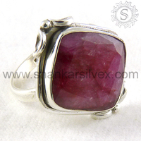 Best Selling Gemstone Jewelry, Handmade Ruby Ring , Indian Sterling Silver Jewellery