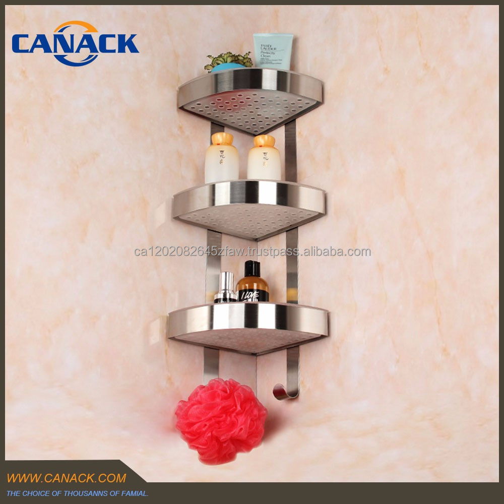 Bathroom 3 Tie Corner Shelf Baskets for make-up