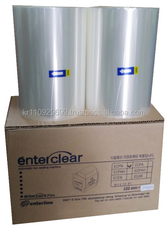 Enterpack PET film, PP film, Plastic film(Easy peel, 230mm*250m) only for Enterpack Automatic sealing machine EHQ-350N