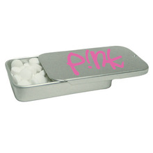 Tek Slider Mint Tin - features a slide top, sugar-free, full color imprint available and comes with your logo