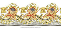 New 2015 Latest Hot Sell Yellow Nice Quality Designer Handmade Flower Lace Border Lace For Women