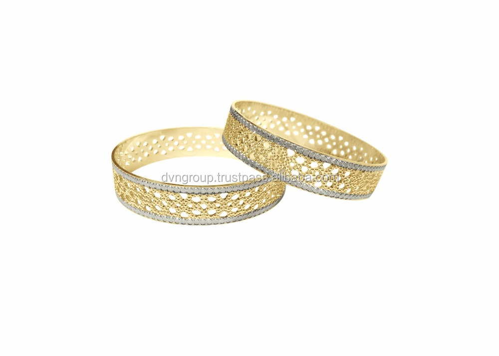 Classic CNC bangles design, Two tone bangles, Brass jewellery