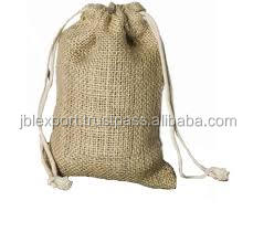 wholesale custom gift packing used jute bags with drawstring stylish bag