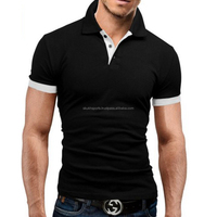 men\s slim fit blank polo t shirt