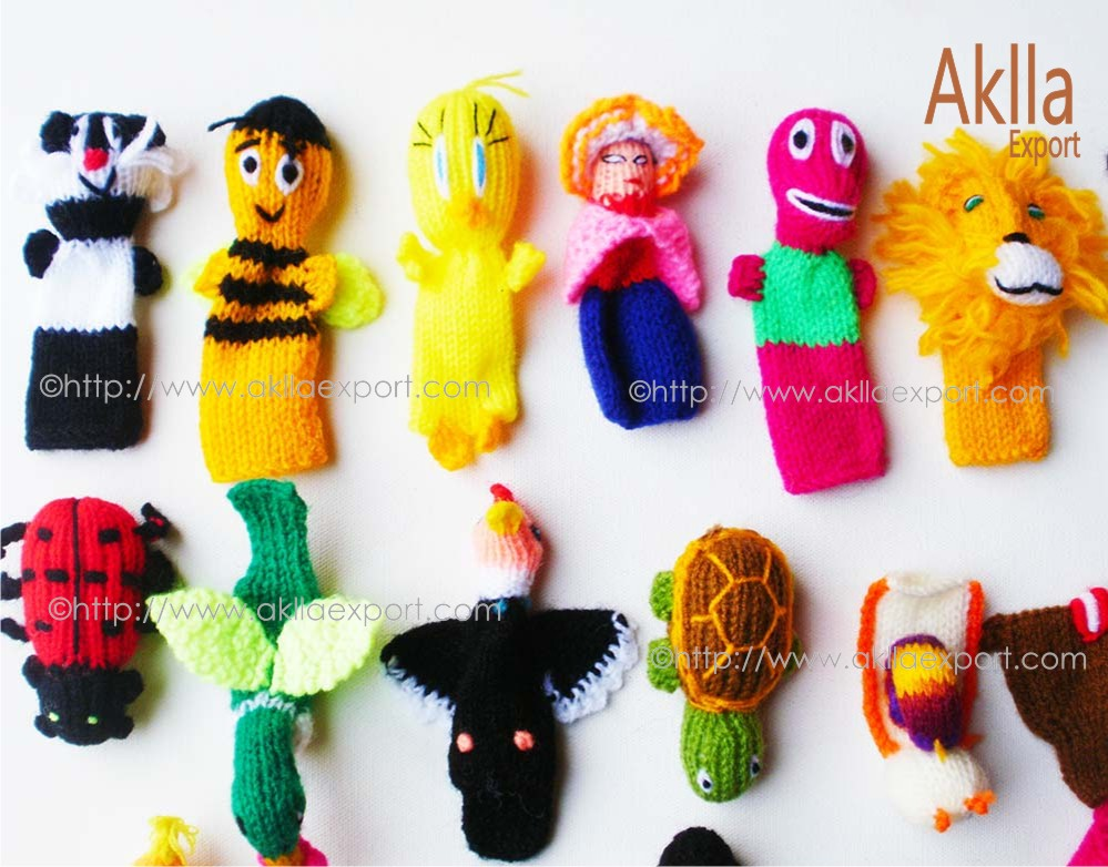 Assorted Hand knitted Finger Puppets