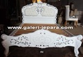 French Italian Rococo Bed With Upholstery Headboard - Antique Bedroom Furniture