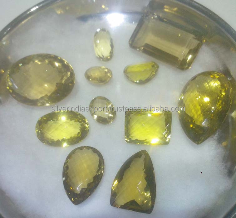 Beautiful lemon topaz natural semi precious gem stone