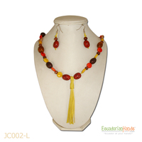 Necklaces And Earrings - Handmade Eco Ivory Tagua Jewelry (Jc002-L)