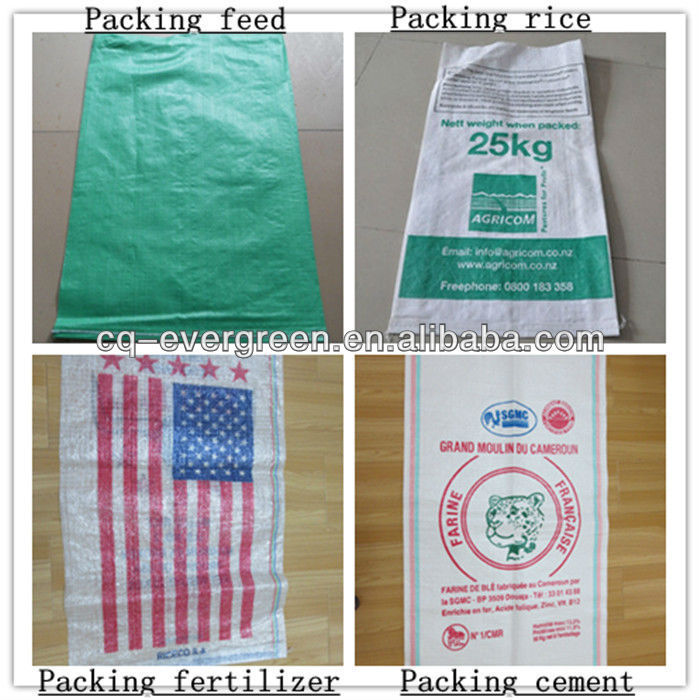 High quality OEM order custom lamination pp woven wheat flour bag
