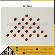 Traditional Dot Bindi Sticker / Crystal Dots On Organza Fabric For Festival Decoratiaon Dot Bindi