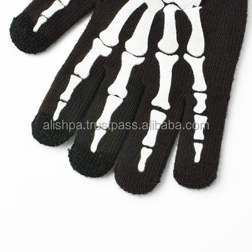 Warm Winter Women/Men Skeleton Smart Phone Tablet Touch Screen Gloves Mitten Hot