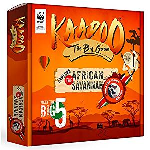 Kaadoo Wildlife Safari Adventure Board Game:Migration Mania African Savannah Edition Fun & Educational game for family and kids
