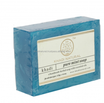 Khadi Natural Herbal Pure Mint Soap