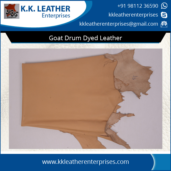 Genuine Goat DD Drum Dyed Leather Available for Bulk Buyers