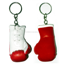 Promotional PU boxing glove keychain, Mini boxing glove keyring