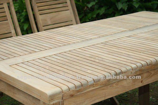 Giardino esterno e strisce pieghevole tavola di legno di - Mobili da giardino in teak ...
