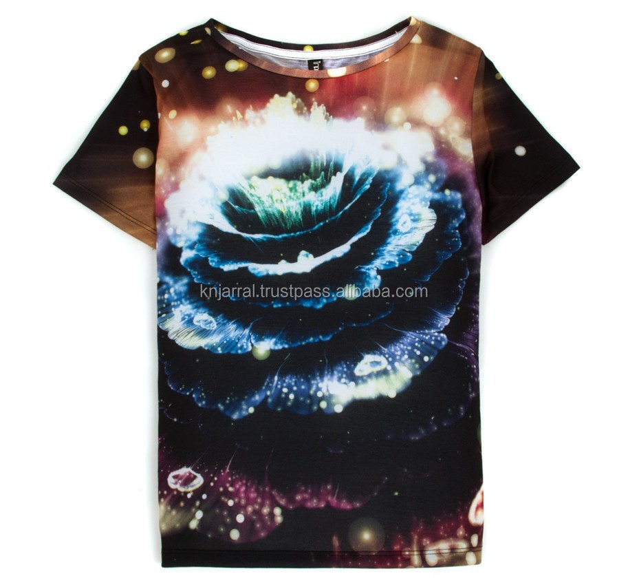 Cheap 65% polyester 35% cotton sublimation printed T shirts, customized sublimation / t shirts for sublimation printing
