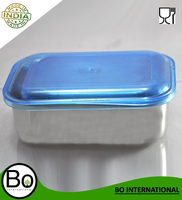 Stainless Steel Tiffin Box With Plastic Lid Blue Cap