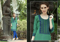 Cotton Green colour designer kurtis