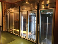 Stainless Steel 2 Glass Door Display Chiller