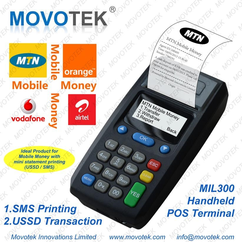 61 Handheld Prepaid Vending Machine for Airtime topup distribution, Ticketing and Movotek Distribution POS System (MDS)