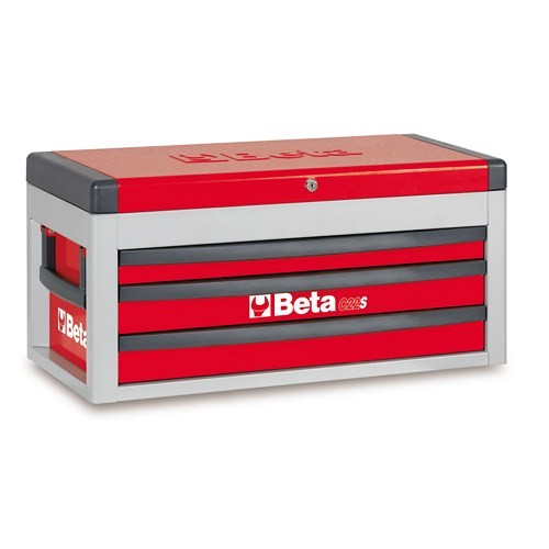Beta Tools 022000433, 2200S-R/MT Portable Red Tool Chest with Assortment Set of 106 Car Repair Tools