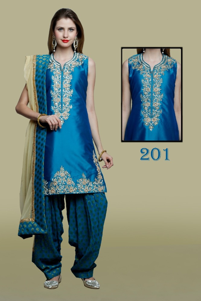 Party Wear Hand Embroidered Ladies Suits
