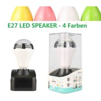 E27 Bulb Light Sound Bluetooth Speaker Wireless Speaker With IOS Android App Colorful