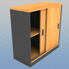 Low Cabinet with Sliding Doors