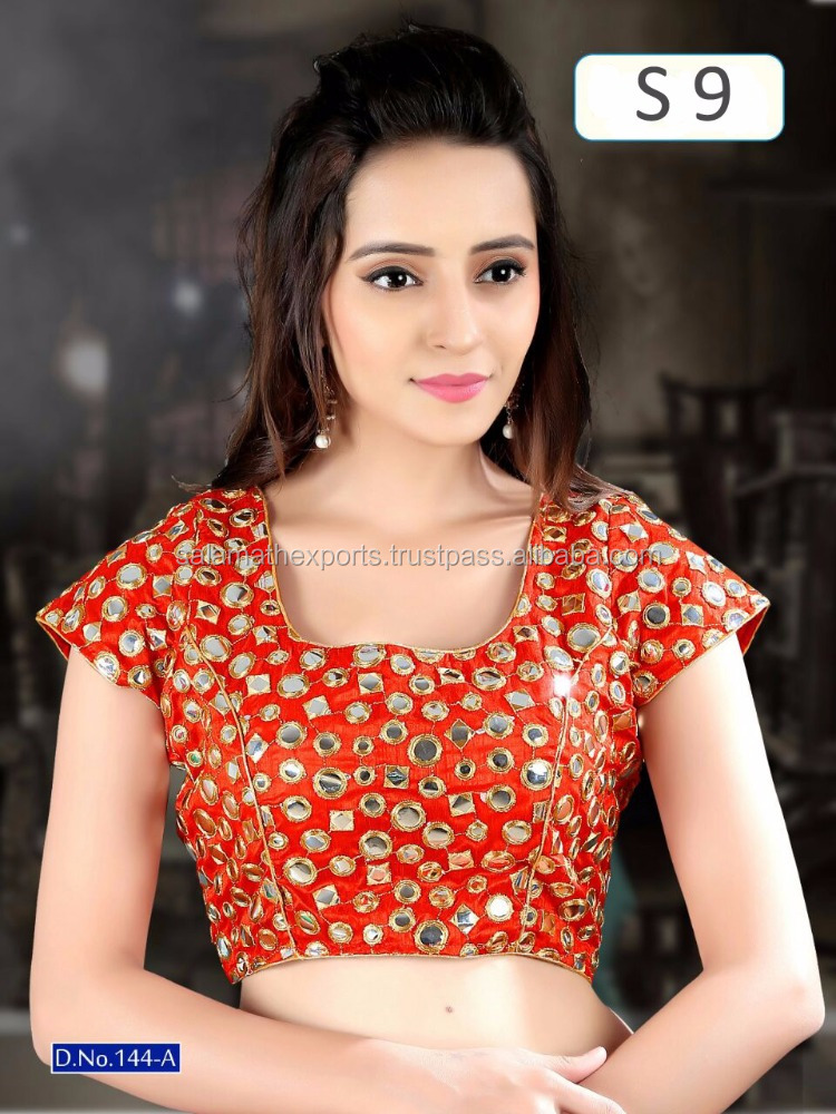 Red Fancy Readymade blouse for women