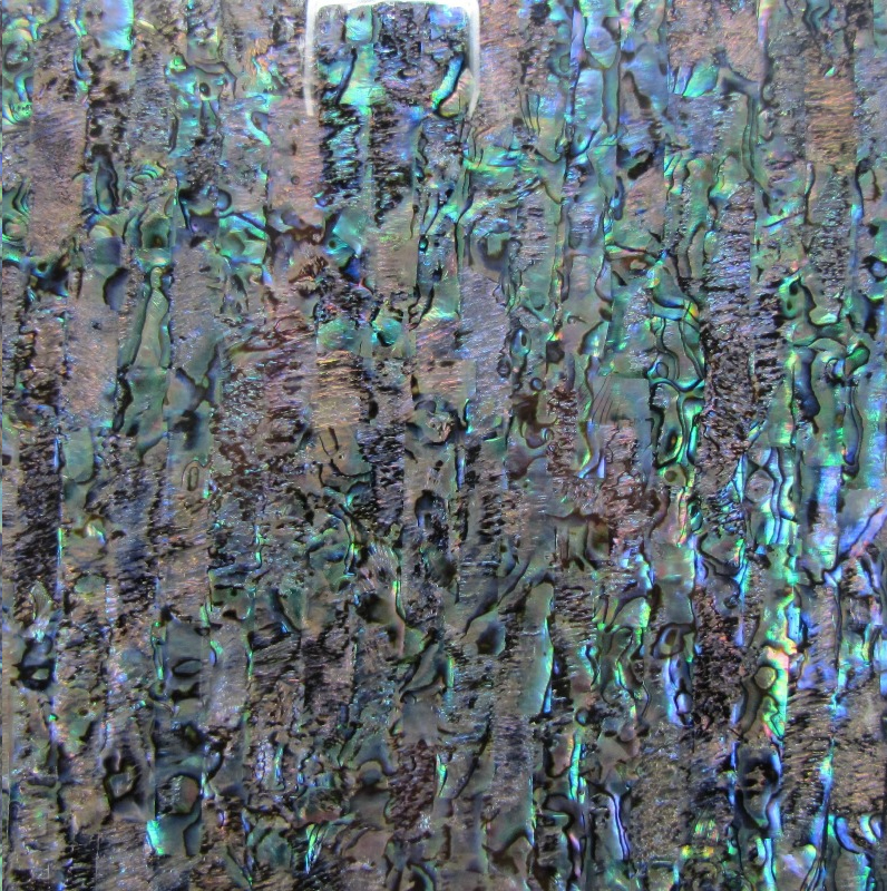 Paua Shell Laminate Opal - 200x200mm - 0.3mm thick Gloss Sheet - Haliotis Iris (New Zealand Abalone)