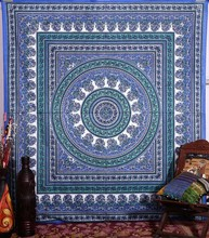 Indian Mandala Tapestry Bohemian Throw Wall Hanging Indian Decorative Bedspread Hippy Picnic Beach Sheet